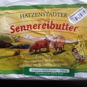 Butter Sennereibutter Hatzenstädt