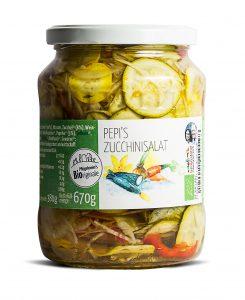 Zucchinisalat groß