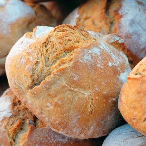 Brot ausgesiebt