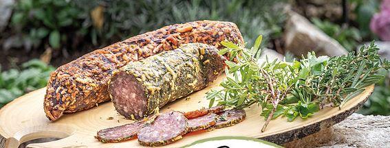 Rohwurst im Gemüse-Mantel ohne Nitrit Pöckelsalz!