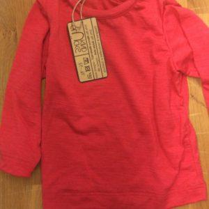 Wolle-Seide-Laibchen rot oder grün für Kinder