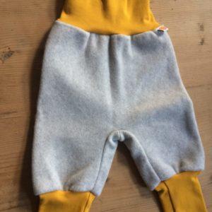Baby Fleece-Hose grau/senf