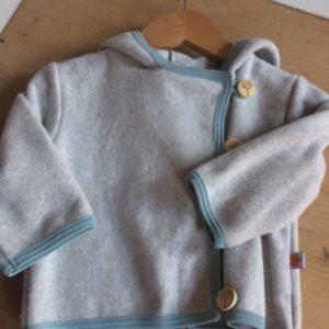 Baby Fleecejacke grau