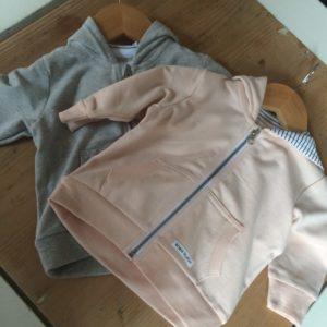 Kapuzenjacke rosa/grau