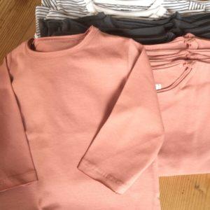 Shirt lachs/grau/gestreift