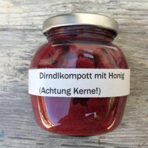 Dirndlkompott mit Honig