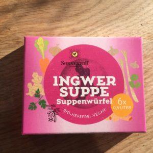 Ingwer Suppe (6 Suppenwürfel, hefefrei, vegan)