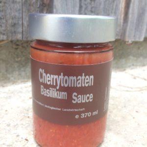 Cherrytomaten Basilikum Sauce